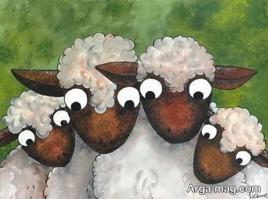طراحی گوسفند برای عید قربان