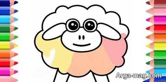 نقاشی جالب گوسفند