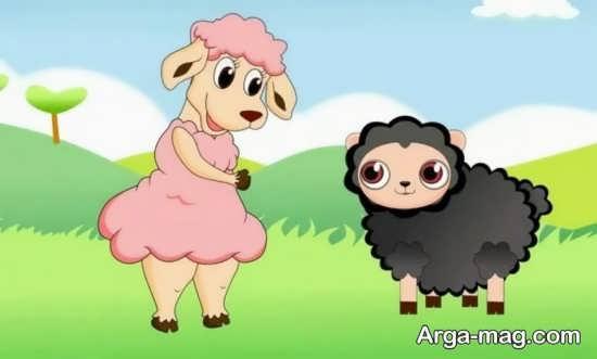 نقاشی جالب و دیدنی گوسفند برای عید قربان