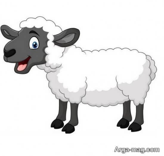 نقاشی جالب و دیدنی گوسفند