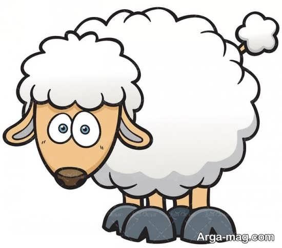 آموزش نقاشی گوسفند کودکانه