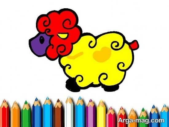 نقاشی عید قربان همراه با رنگ آمیزی
