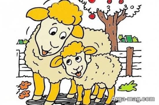 رنگ آمیزی جالب گوسفند برای عید قربان