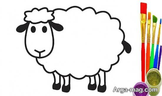 طراحی و رنگ آمیزی گوسفند