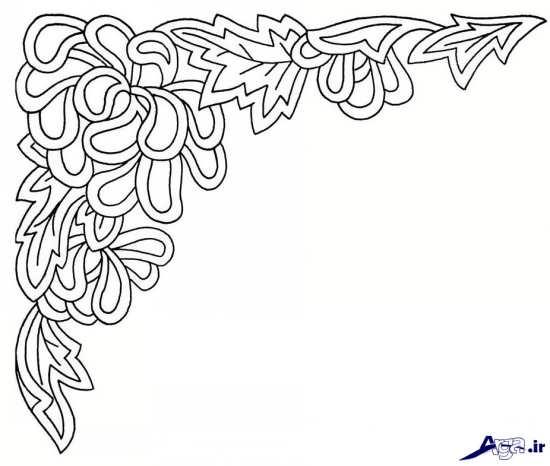 طرح و نقش گلدوزی با دست
