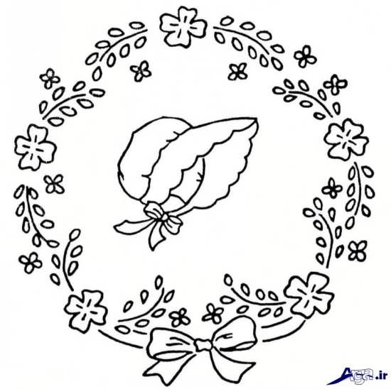 طرح حلقه گل برای گلدوزی