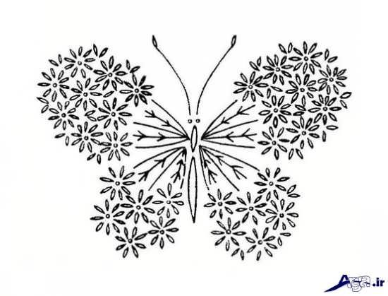 طرح برای گلدوزی با دست