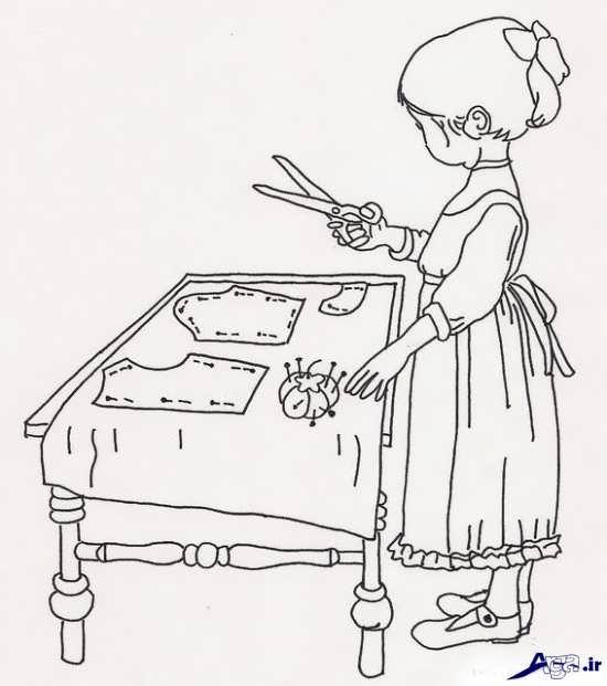 طرح دختر برای گلدوزی
