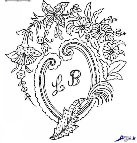 طرح گل های جالب برای گلدوزی