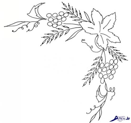طرح حاشیه برای گلدوزی
