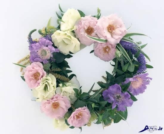تزیین زیبای حلقه گل طبیعی