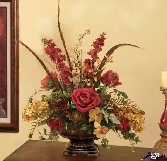 تزیین گلدان گل طبیعی