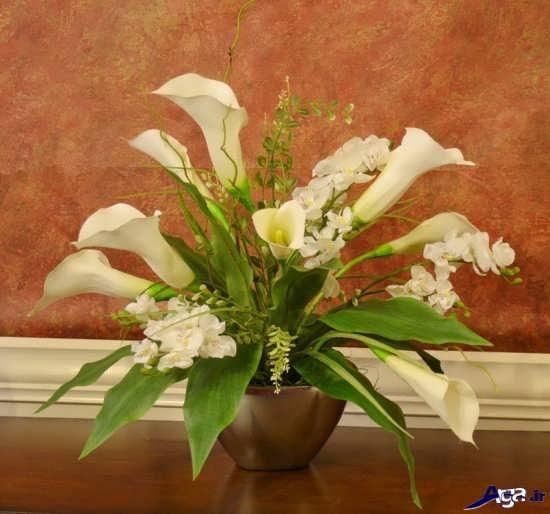 تزیین جدید گل در گلدان