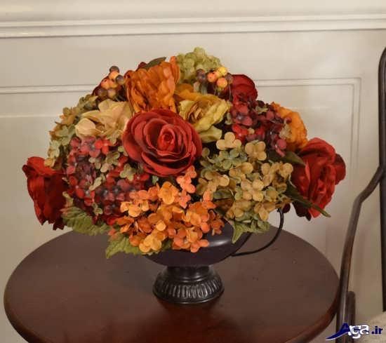 تزیین زیبای گل در گلدان
