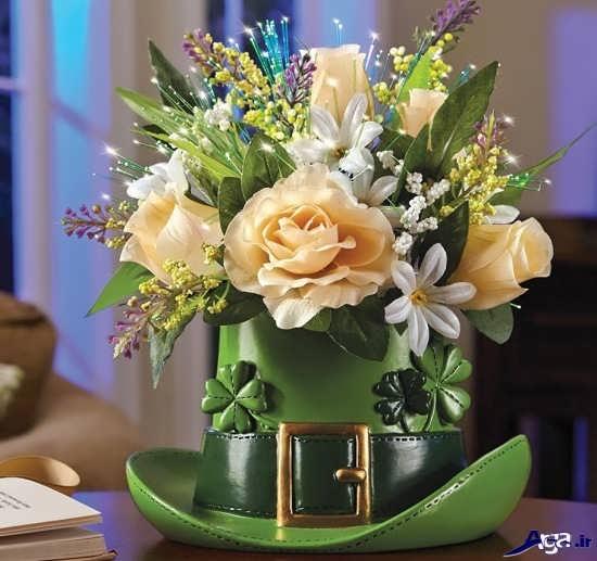 تزیین زیبای گل