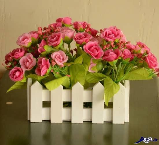 گل آرایی در سبد چوبی