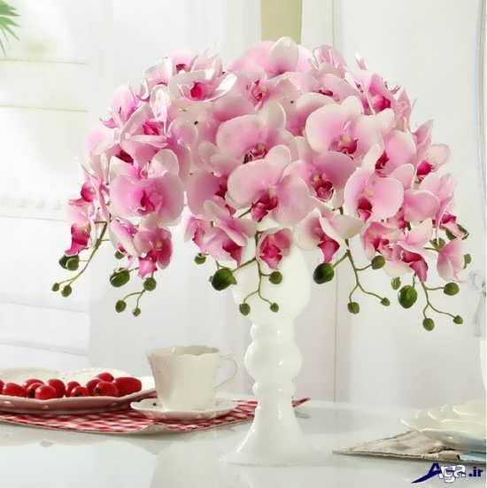 تزیین زیبا و شیک گل در گلدان