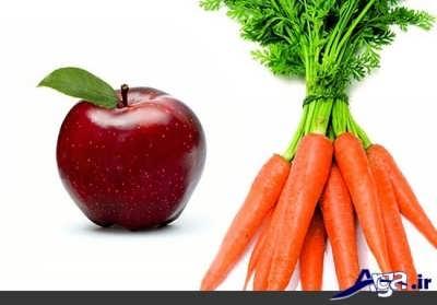 ماسک هویج و سیب
