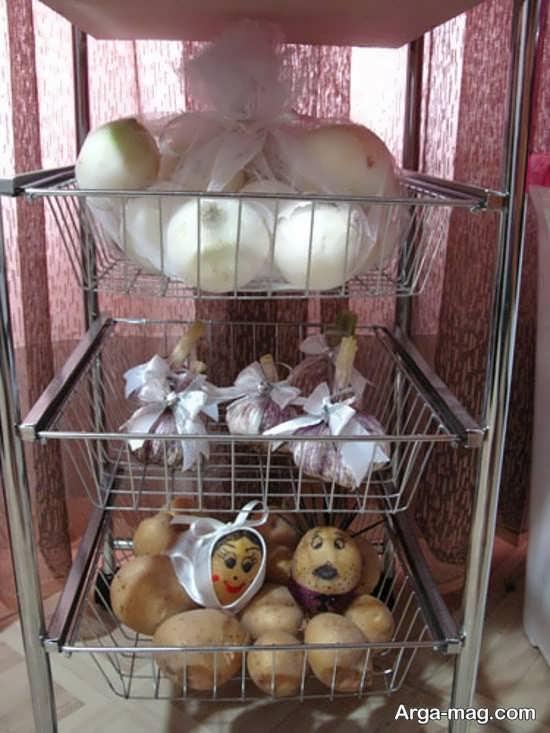 تزیینات سیب زمینی و پیاز جهیزیه