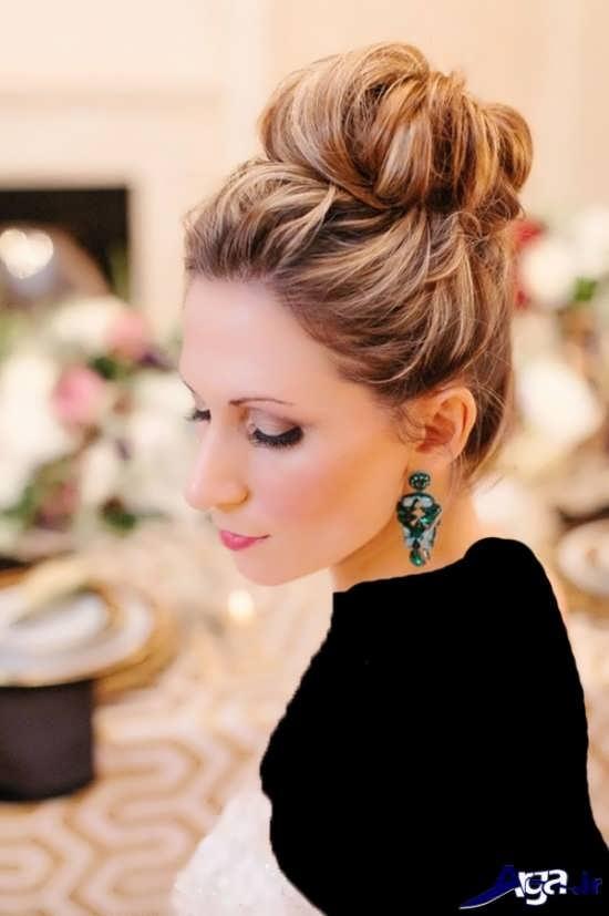 مدل موی بسته عروس زیبا و جدید