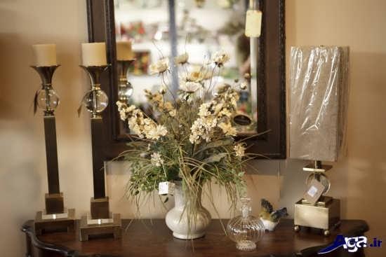 تزیین خانه با گلدان های ساده و تزیینی