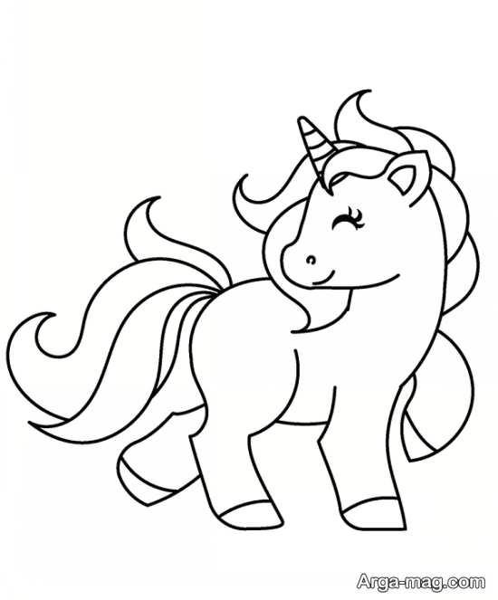طراحی جذاب اسب تک شاخ