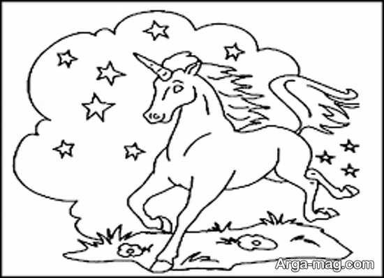 طراحی خاص اسب تک شاخ