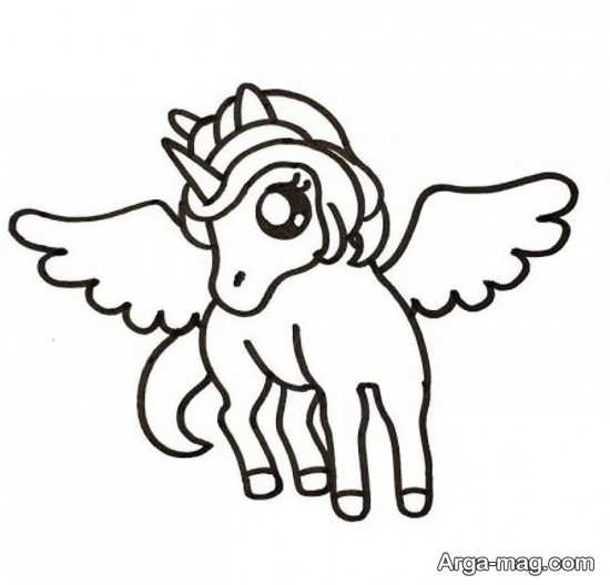 طراحی خواستنی اسب تک شاخ
