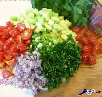 طرز تهیه سالاد تبوله لبنانی