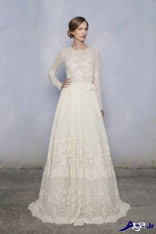 مدل لباس عروس آستین بلند و پوشیده