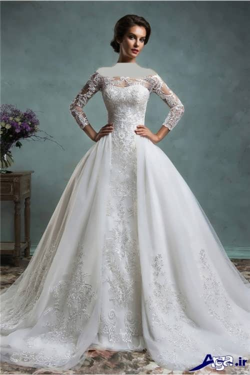 مدل لباس عروس با دامن پف دار