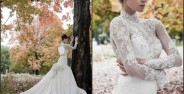 مدل های لباس عروس آستین بلند و پوشیده مد سال