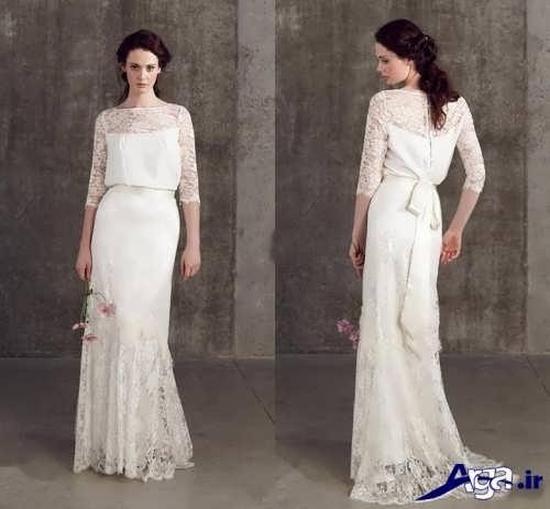 مدل لباس عروس آستین بلند زیبا و متنوع