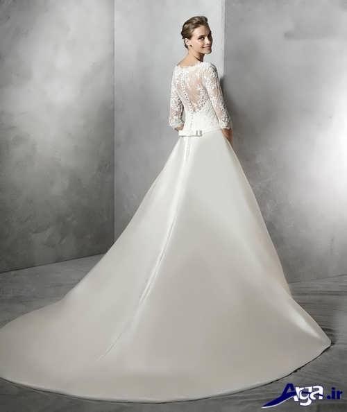 مدل لباس عروس با آستین بلند
