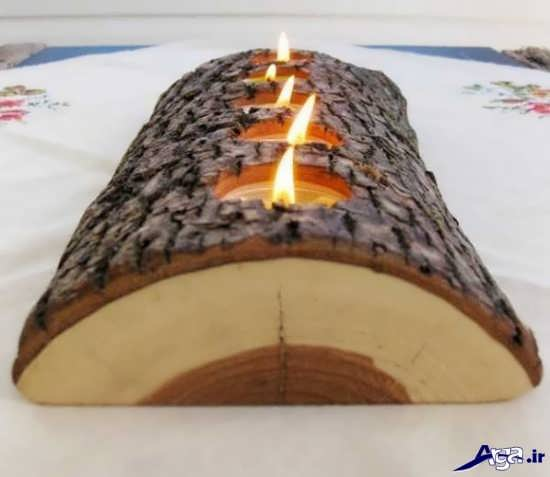 جاشمعی چوبی خلاقانه