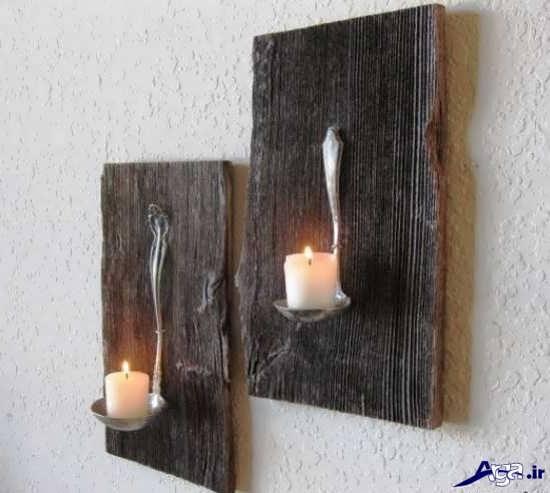 ساخت جا شمعی زیبا با چوب