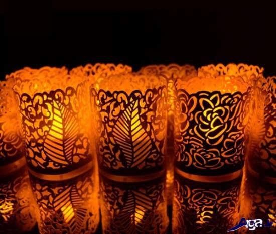 جا شمعی شیشه ای
