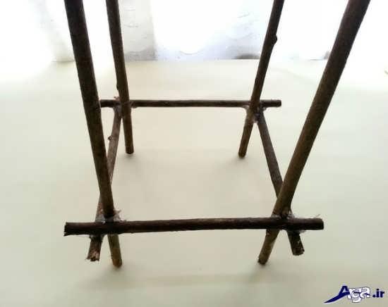 مراحل ساخت یک آباژور با چوب و مقوا