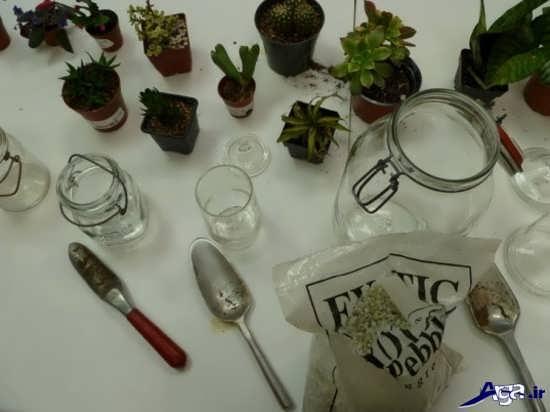 مراحل ساخت و تهیه باغ شیشه ای