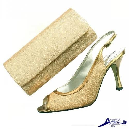 زیباترین مدل های کیف و کفش ست عروس