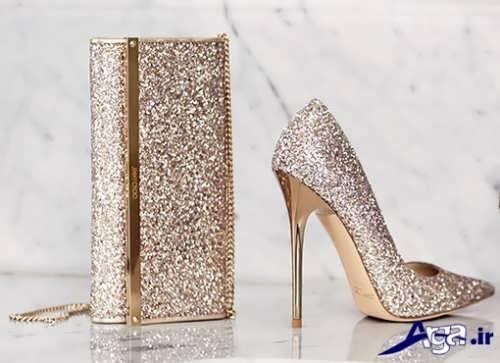 مدل کفش و کیف ست عروس