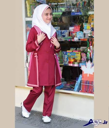 رنگ لباس مدارس لرستان مدل مانتو مدرسه های ابتدایی و راهنمایی شیک و جدید