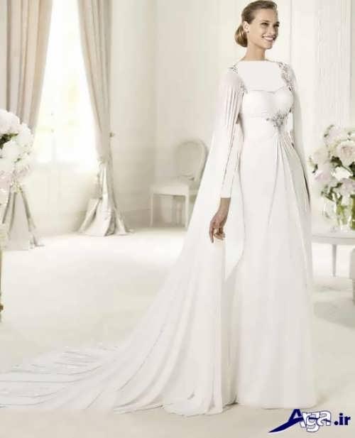 مدل شنل عروس برای لباس های دکلته