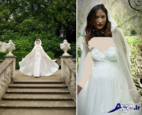 مدل شنل بلند عروس