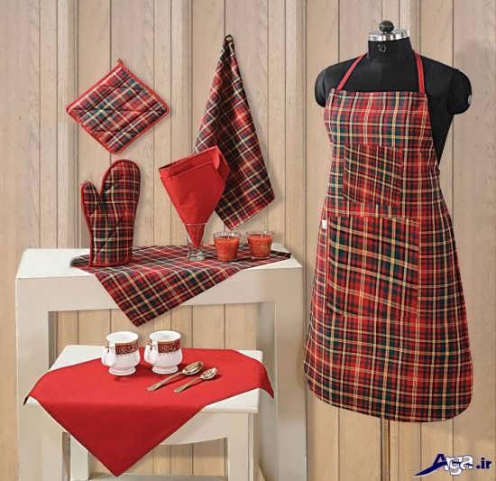 مدل پیشبند و دستکش آشپزخانه