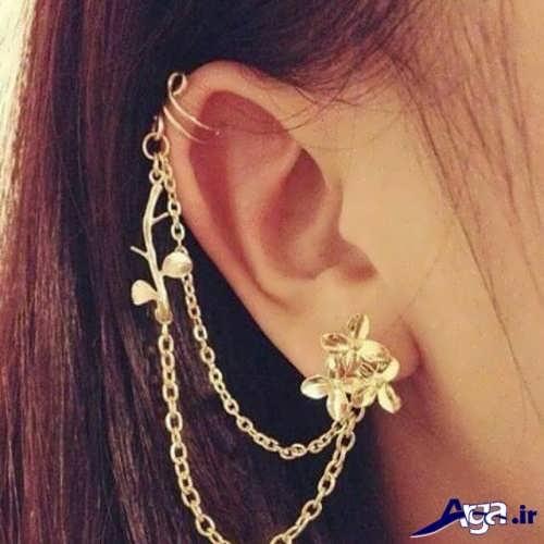 مدل زیبا و جدید گوشواره بخیه ای
