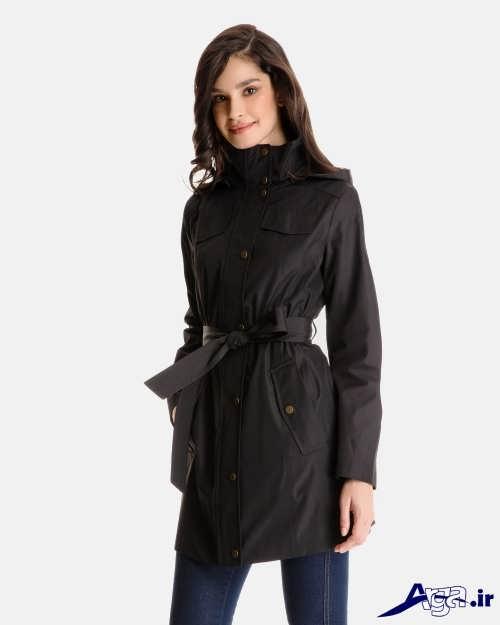 مدل بارانی دخترانه با رنگ تیره