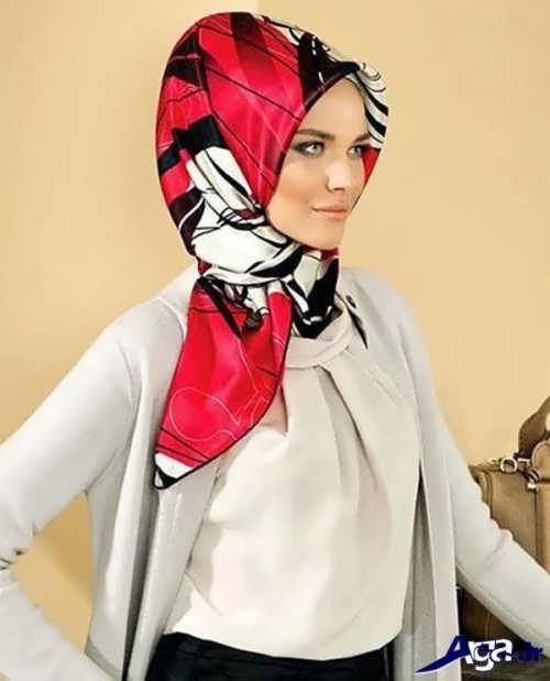 مدل گره زدن روسری با روش های جدید