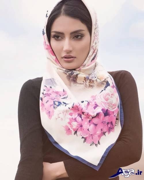 بستن روسری با انواع گره های ساده و فانتزی
