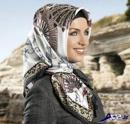مدل گره ساده روسری